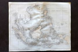 Nolan - India C1880 Antique Map. East India Islands. Borneo Indonesia